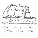 Malvorlage Segelboot - Ausmalbilder für Kinder