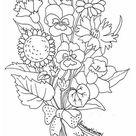 Kleurplaat bloemen. Gratis kleurplaten om te printen