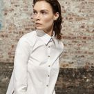 POWER DRESSING PATCHWORK BUTTON DOWN - 4 / White