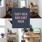 Easy Ikea Bar Cart Hack