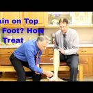 Anterior Tibialis Tendonitis Pain on Top of Foot Treatment & Stretches