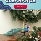 Northlight Seasonal Regal Peacock Closed Tail Feathers Figure in Brown/Blue/Green, Size 5.25