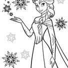 Kids-n-Fun | Kleurplaat Frozen Anna en Elsa elsa