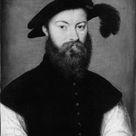 Corneille de Lyon, 1535 - Portrait of a Man with a Black-Plumed Hat - fine art print - Metal print (Aluminium Dibond) / 50x60cm - 20x24