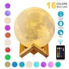 ZK20 Dropshipping USB Rechargeable 3D Print Moon Lamp Night Light Creative Home Decor Globe Bedroom Lover Children Gift - 16 Colors / 8cm / China