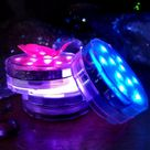 BLOWOUT Submersible LED 13 Color Waterproof Floral Vase Lights w/ Remote Controls RGB 4 Pack