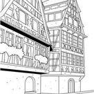 Coloriages coloriage d'une maison à strasbourg - fr.hellokids.com