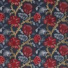 Coromandel Fabric in Blue, Red, and Neutral by Nina Campbell for Osborne & Little - 6 Yards