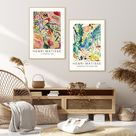 Matisse Abstract Wall Art Set of 2 DIGITAL PRINTS, Printable Wall Art Museum Exhibition Posters, Mid Century Wall Art, Matisse Landscape Art