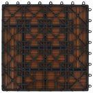 ZNTS 22 pcs Decking Tiles 30x30 cm 2 sqm WPC Black 277798