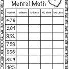FREE Printable Mental Math Worksheet - Homeschool Giveaways
