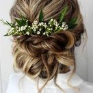 20 Fall Wedding Hairstyles with Flowers