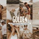 10 lightroom presets GOLDEN wedding presets for mobile and desktop, photo filters, photography, wedding , photo presets