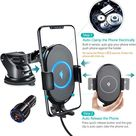 White Maple Qi Wireless Car Charger Phone Mount - With QC3.0 Adapter