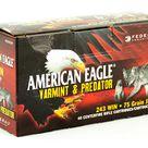 Federal American Eagle Varmint & Predator 243 Win 75 Grain Jacketed Hollow Point 40 Round Box AE24375VP
