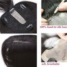 SEGO Clip in Topper for Women with Bangs 120% Density Remy Human Hair Silk Base Top Hairpieces Replacement Crown Wiglet Straight for Thinning/Loss Hair - Walmart.com