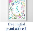 name art and initial printables Archives