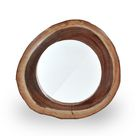 SIT Möbel Wand-Spiegel in naturgewachsenem Holzrahmen   Suar-Holz natur   B 60 x T 8 x H 60 cm   07996-53   Serie ROMANTEAKA