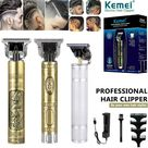 Hair Clippers Beard Trimmer for Men,Electric Cordless Rechargeable Grooming Hair Cutting Kits T-Blade Blade Shaver with 4 Guide Combs Cutting Kits for Family Use Home Daily Use Barbers(Gold) - Walmart.com
