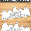 Free Printable Happy Birthday Crown | Paper Trail Design