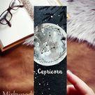 Capricorn Bookmark, Capricorn Zodiac Sign Bookmarks