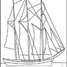 Segelschiff / Segelboot als Ausmalbild zum Ausdrucken