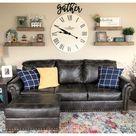 living room wall clock decor ideas