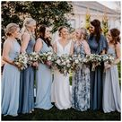 slate blue bridesmaid dresses mismatched