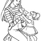 BARBIE COLORING PAGES: COLORING PAGES OF BARBIE WITH KELLY - Coloring Home Pages