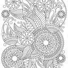 Handdrawn Henna Abstract Mandala Flowers Paisley Stock Vector (Royalty Free) 399942658