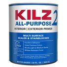 KILZ 2 Interior or Exterior Multi Purpose Water Based Wall and Ceiling Primer 1 Quart   20002
