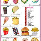 Fast Food ESL Vocabulary Matching Exercise Worksheet