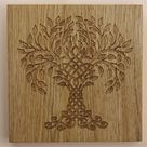 Celtic Tree Of Life Engraved Wood Wall Art, Celtic Knot, Wood Art, Wall Decor, Wall Hanging