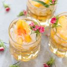 Sweet Georgia Peach Drink {Bourbon Cocktail} - Pizzazzerie