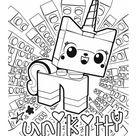 The Lego Movie - UniKitty, a unicorn kitten coloring page