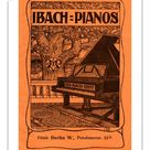 25cm Photo. Ibach pianos - early 20th century advertisement