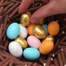Süßes Osternest aus Schokolade
