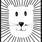 Set of 4 downloadable digital prints,  Cute Animals Print, Monochromatic print, Nursery wall, Digital prints, Kids room decor, Nursery print