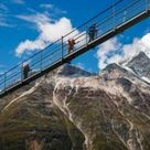 World's longest pedestrian suspension bridge in the Swiss Alps