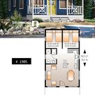 TINY RUSTIC CABIN HOME PLAN