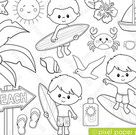 Woodland Animals - Digital stamps - Clipart