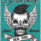 Metal Poster Barbershop New York