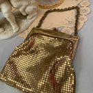 1930s Whiting and Davis Gold Mesh Mini Purse Evening Bag   Etsy