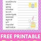 Easter Word Scramble Printable