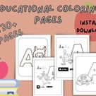 Educational Coloring Pages for Kids | Etsy