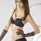 Bianca Bai in black bikini dress
