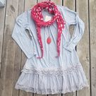 Grey Lace Trimmed Tunic - XL