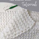 Easy Crochet Baby Blanket (White Waves) - Craft-Mart