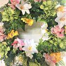 Spring, Summer, Easter Wreath, 28 X 6 depth - 25 / Pink