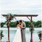 First Kiss Wedding Photo   Beautiful Lakeside Eagle, Idaho Wedding — SS Photography & Design